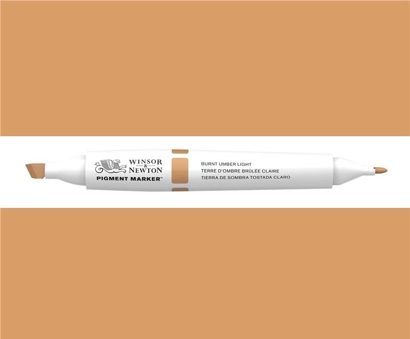 W&N Pigment marker Burnt umber light 110