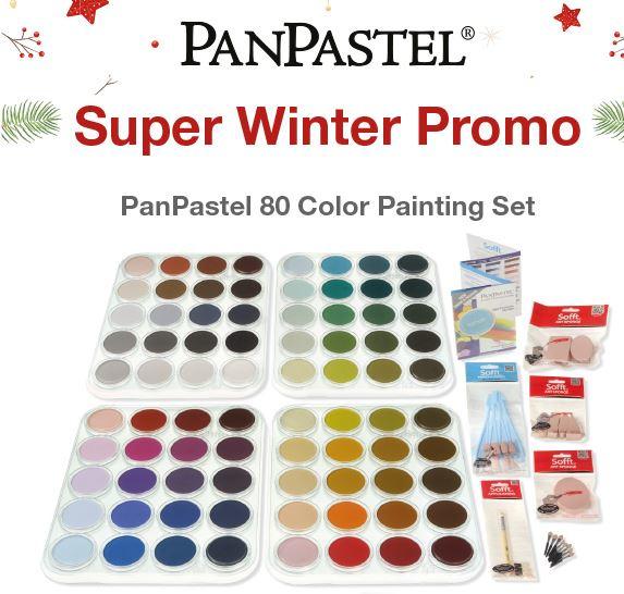 Panpastel WinterPromo SET 80 Kleuren + tools