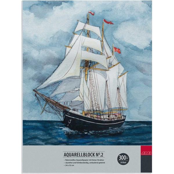 AMI Aquarel blok 300 grams- 24x32 cm