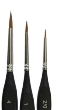 Mus Brush Serie 401 round/fine Kolinsky number 6
