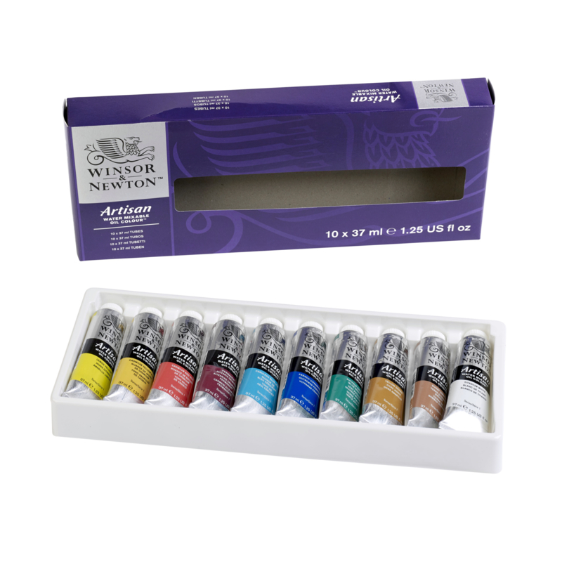 Winsor & Newton   water mixable olieverf  10 x 37 ml
