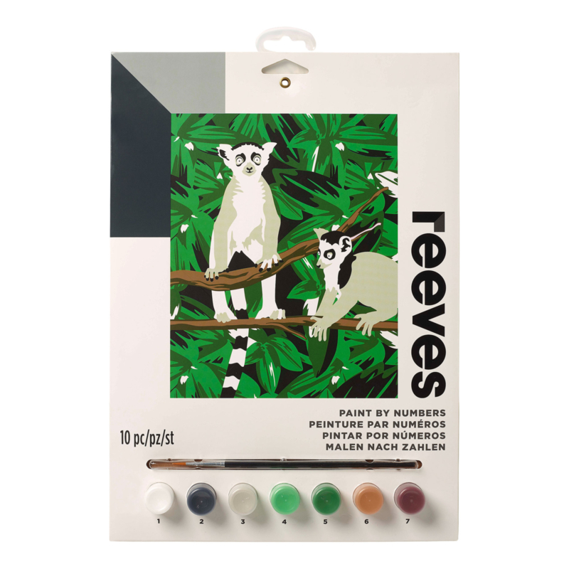 Schilderen op nummer-Lemur