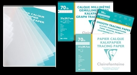 Clairfontaine kalkpapier ROL 90 grams -0,75x20