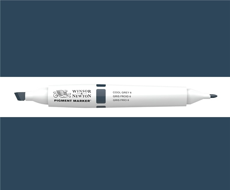 W&N Pigment marker Cool  grey 6 - 156
