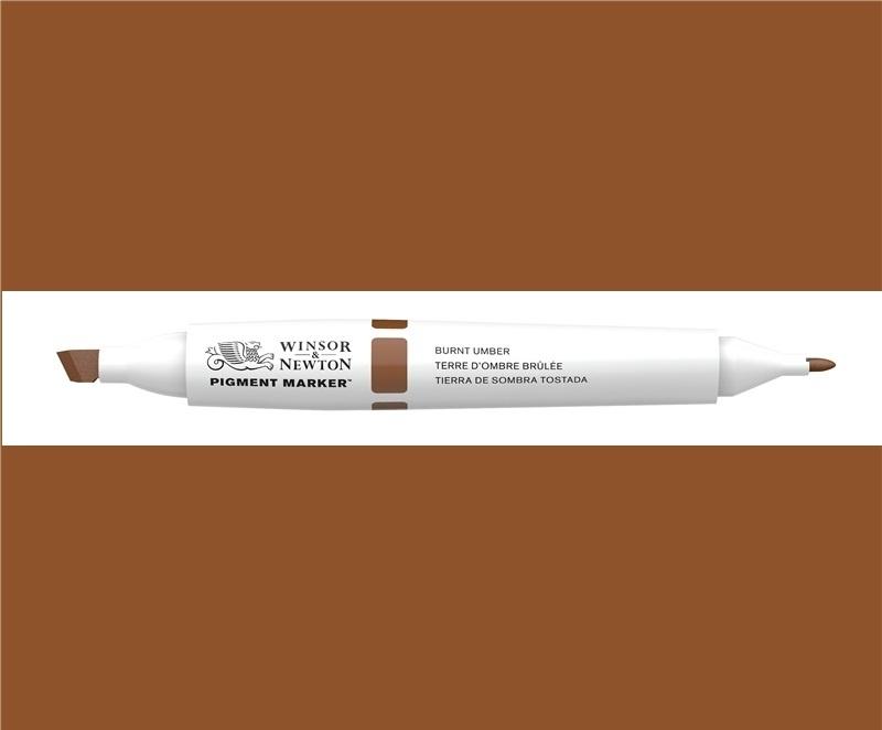 W&N Pigment marker Burnt umber  076
