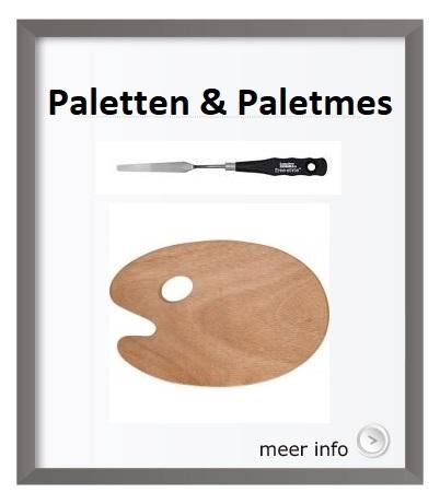 Palet, paletten, afscheurpalet, schildersmes, paletmes