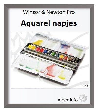 Winsor&Newton, waterclour, aquarelverf, napjes