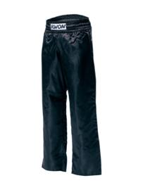 Satijnen broek zwart