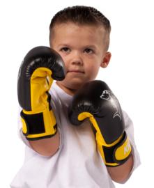 Bokshandschoenen KIDS Mini Shark 4oz zwart / geel