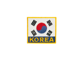 Opnaai embleem Koreaanse vlag 8x8cm