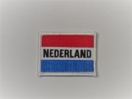 Opnaai embleem Nederland 6x4.5cm