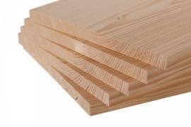 Set van 5 houten breekplanken 1cm dik
