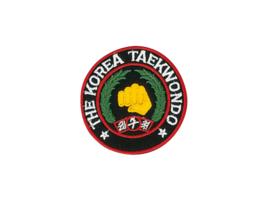 Opnaai embleem The Korean Taekwondo zwart 9cm
