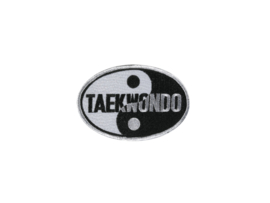 Opnaai embleem Taekwondo Yin Yang 10cm