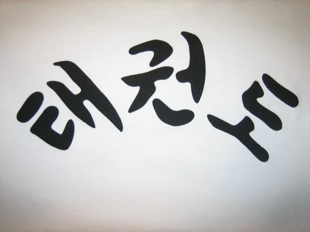 Taekwondo T-Shirt met Taekwondo in Koreaans