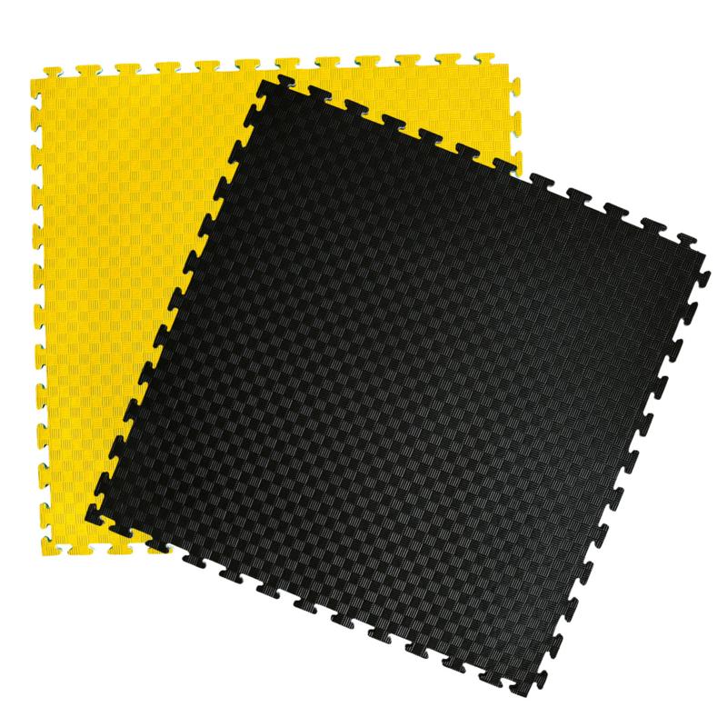 Puzzelmatten Geel / Zwart 100x100x2cm