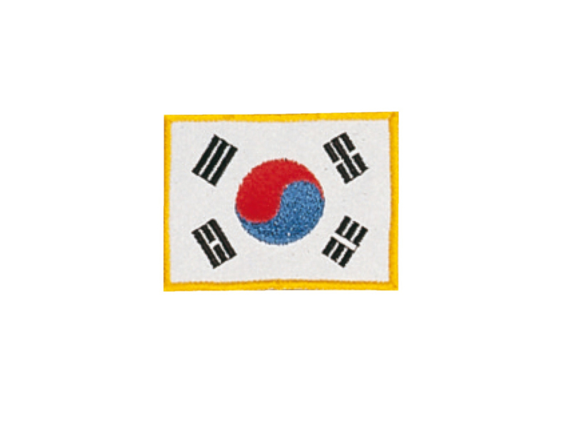 Opnaai embleem Koreaanse vlag 8x6cm