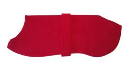 Effen fleece pyama/jasje rood