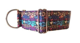 "Halfslip Martingales - sierband ""I love my dog"""