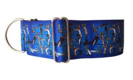 Halfslip Martingales  - windhonden hoofdjes op blauw