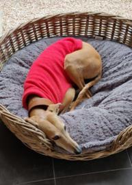 Fleece hemdjes voor reu of teef - effen rood
