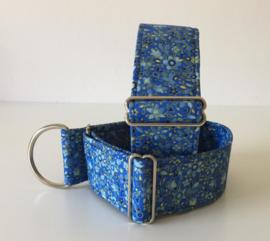 Halfslip Martingale gebloemd blauw