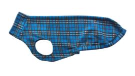 Fleece jumper ruit blauw