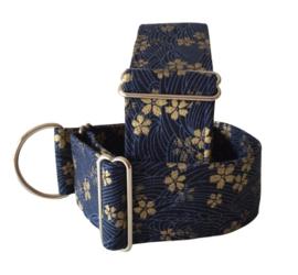 Halfslip Martingale gouden viooltjes op blauw