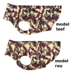 Fleece hemdjes voor reu of teef - Camouflage