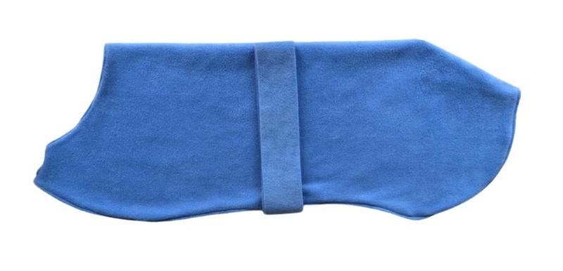 Effen fleece pyama/jasje zachtblauw