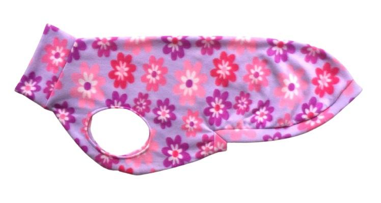 Fleece jumper - lila bloem