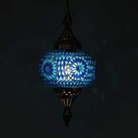 Hanglamp oosters mozaiek Turqoise-Blauw