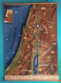 Schoolkaart Palestina linnen