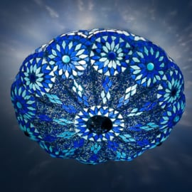 Mozaïek plafonnière Pompoen Blauw Ø 38 cm