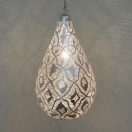 Filigrainlamp zilver Druppel patroon XS t/m XL