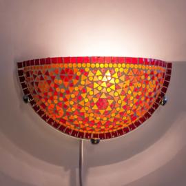 Wandlamp mozaiek  Rood-Oranje