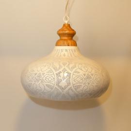 Hanglamp filigrain wit/goud