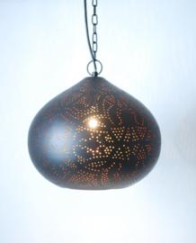 Filigrain hanglamp zwart - koper