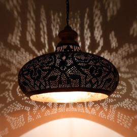 Hanglamp filigrain zwart/goud
