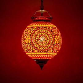 Hanglamp mozaiek Rood-Oranje Ø 25