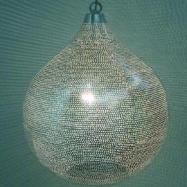 Oosterse lamp zilver Gaatjes XXXL
