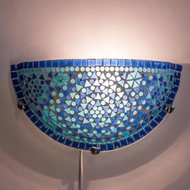 Wandlamp mozaiek  Turqoise-Blauw