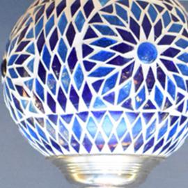 Hanglamp mozaiek Blauw Ø 15