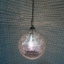 Oosterse Gaatjeslamp zilver S