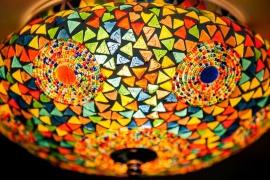 Mozaïek plafonnière Beads & Triangles MC Ø 25