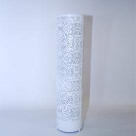Filigrain vloerlamp Cilinder Wit-Goud