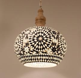 Hanglamp Mozaiek Open Zwart - Wit