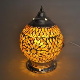 Mozaïeklamp bruin/beige Ø 15