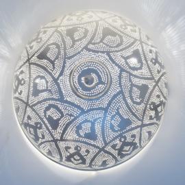 Filigrain plafondlamp zilver Ø 45 cm Large Zenza