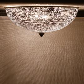 Plafondlamp filigrain gaatjespatroon Ø 48 Large